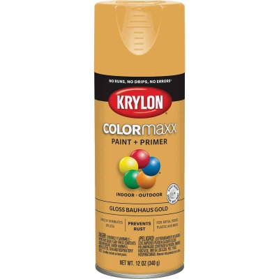 Krylon ColorMaxx Gloss Bauhaus Gold 12 Oz. Spray Paint