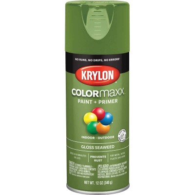 Krylon ColorMaxx Gloss Seaweed 12 Oz. Spray Paint