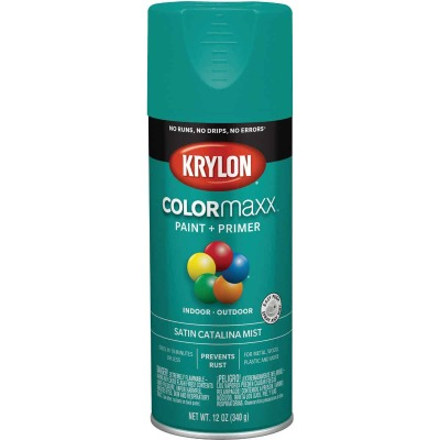 Krylon ColorMaxx Satin Catalina Mist 12 Oz. Spray Paint