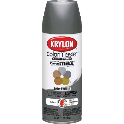 Krylon ColorMaxx Satin Iron Ore 12 Oz. Metallic Spray Paint