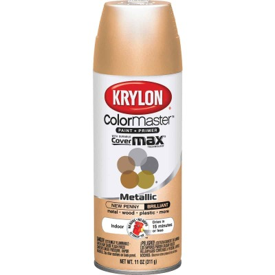 Krylon ColorMaxx Satin New Penny 12 Oz. Metallic Spray Paint