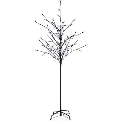 Queens of Christmas 6 Ft. Blue Cherry tree with 108 LEDs