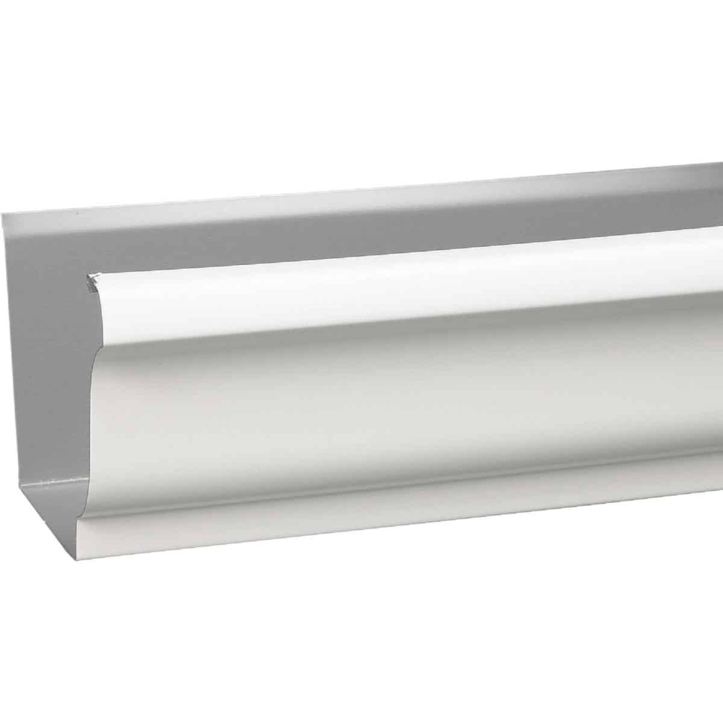 Amerimax 4 In. x 10 Ft. K-Style White Galvanized Steel Gutter Image 1