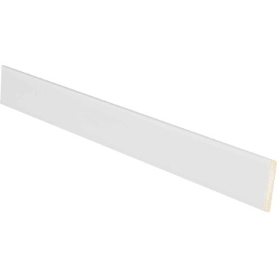 Inteplast Building Products 1/8 In. W. x 1-1/8 In. H. x 8 Ft. L. Crystal White Polystyrene Lattice Molding