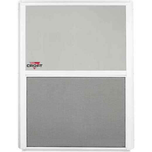 Croft Series 90 24 In. W. x 36 In. H. White Aluminum Single Hung Window