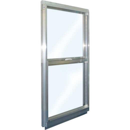 Croft Series 90 35 In. W. x 47 In. H. Mill Finish Aluminum Single Hung Window