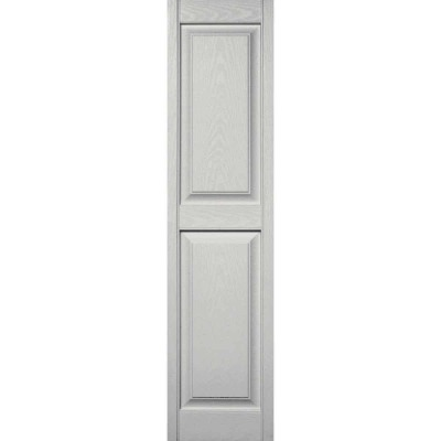 Builders Edge 15 in. x 59 in. Paintable Panel Shutter, (2-Pack)