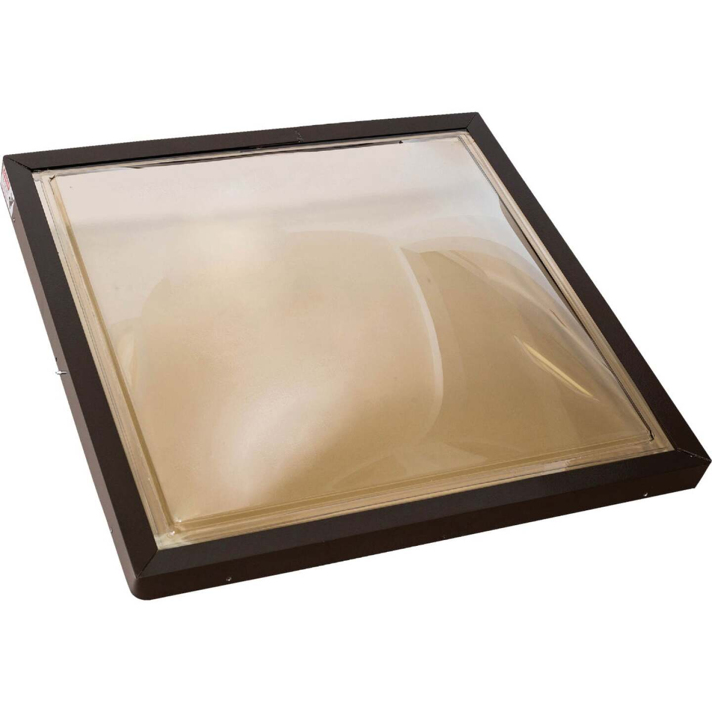 Kennedy Skylights 24 In. x 24 In. Bronze Aluminum Frame Curb Mount Skylight Image 1