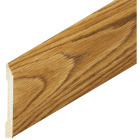 Inteplast Building Products 1/2 In. W. x 3-7/16 In. H. x 8 Ft. L. Ultra Oak Polystyrene Colonial Base Molding Image 2