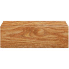 Inteplast Building Products 1/2 In. W. x 3-7/16 In. H. x 8 Ft. L. Majestic Oak Polystyrene Colonial Base Molding Image 3