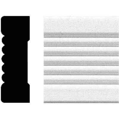 House of Fara 3/4 In. W. x 2-1/4 In. H. x 8 Ft. L. White MDF Fluted Casing Molding