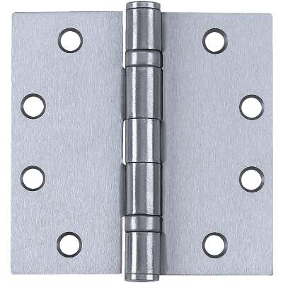 Tell Commercial Stainless Steel 4 In. Square Ball Bearing Hinge with Removable Pin