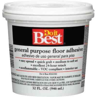 Do it Best Beige General-Purpose Floor Adhesive (Quart)