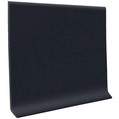 Roppe 4 In. x 20 Ft. Roll Black Vinyl Self-Stick Wall Cove Base