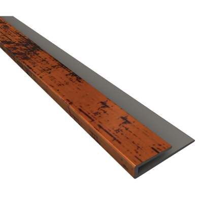 Fasade 18 In. Thermoplastic J-Edge Backsplash Trim, Moon Copper