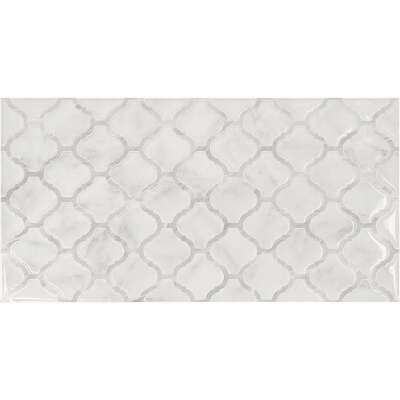 Smart Tiles Approx. 11 In. x 22 In. Glass-Like Vinyl Backsplash Peel & Stick, Arabesco Marble XL (2-Pack)