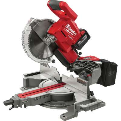 Milwaukee M18 FUEL 18-Volt Lithium-Ion Brushless 10 In. Dual Bevel Sliding Compound Miter Saw Kit