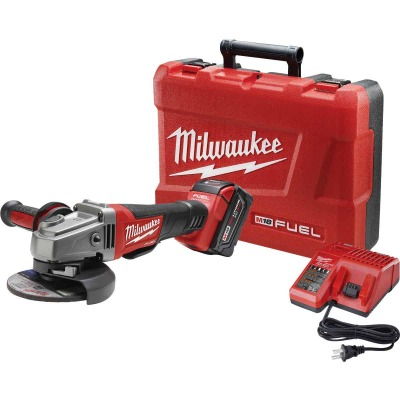 Milwaukee M18 FUEL 18-Volt Lithium-Ion 4-1/2 In. - 5 In. Brushless Cordless Angle Grinder Kit