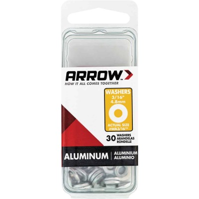 Arrow 3/16 In. Aluminum Rivet Washer (30-Pack)