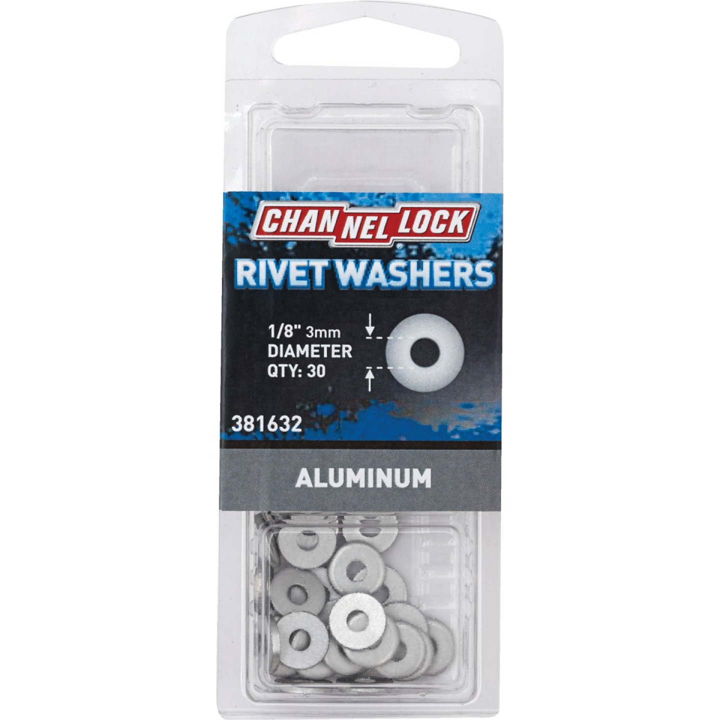 Channellock 1/8 in. Aluminum Rivet Washer (30-Pack) Image 1