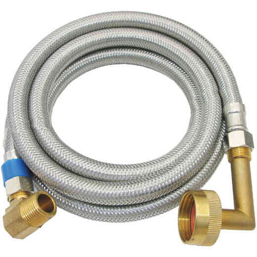 Lasco 3/8 In. x 3/8 In. x 72 In. L Stainless Steel Dishwasher Connector