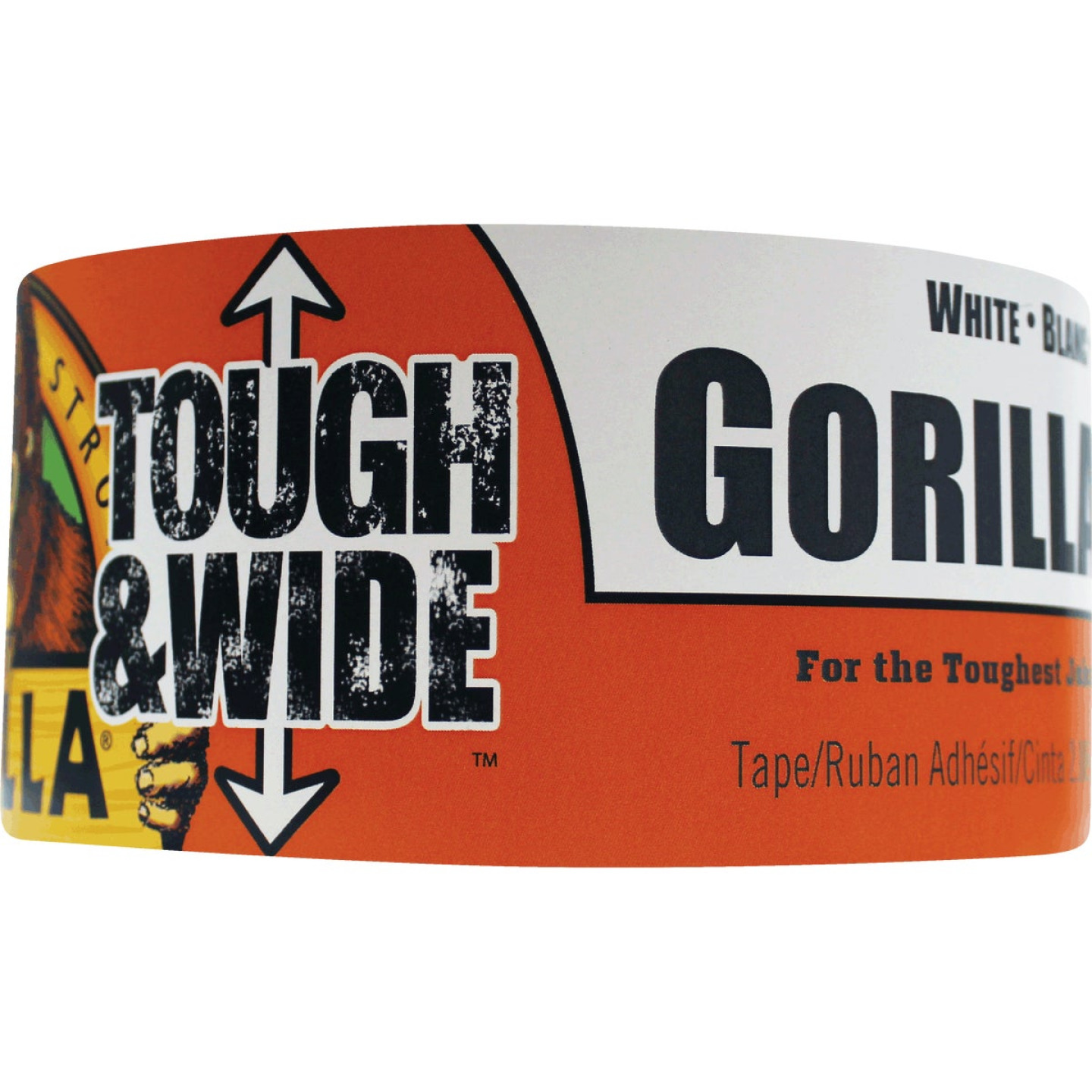 Gorilla 2.88 In. x 25 Yd. Tough & Wide Heavy-Duty Duct Tape, White Image 1