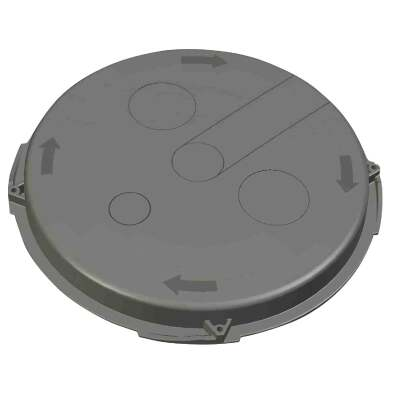 Advanced Drainage Systems 19 In. Dia Polyethylene Locking Sump Basin Lid