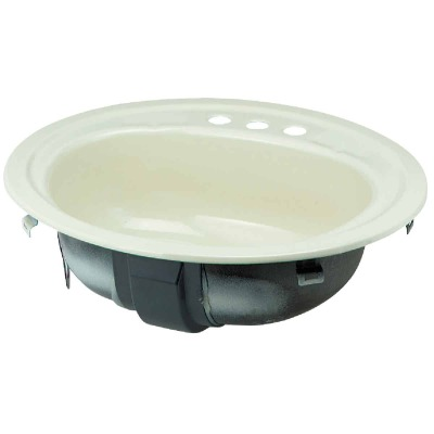 Briggs Anderson Oval Drop-In Bathroom Sink, Bone