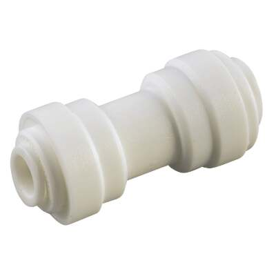Anderson Metals 3/8 In. x 1/4 In. Reducing Push-In Plastic Coupling