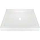 Delta Classic 400 36 In. L x 36 In. D Center Drain Shower Floor & Base in White Image 1