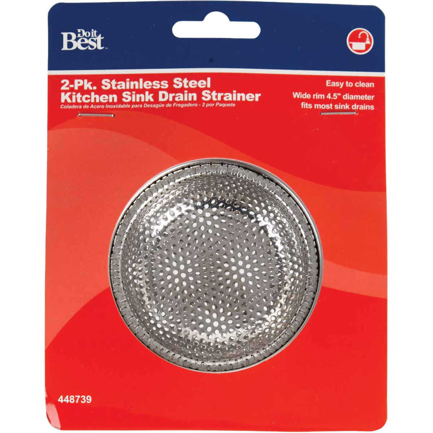 Do it Best 4-1/2 In. Stainless Steel Kitchen Sink Strainer Cup (2-Pack) Image 2