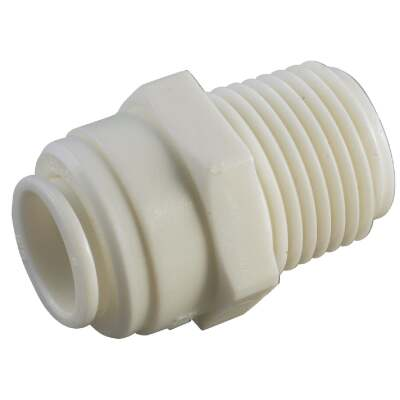 Anderson Metals 1/2 In. x 1/2 In. MPT Push-In Plastic Connector