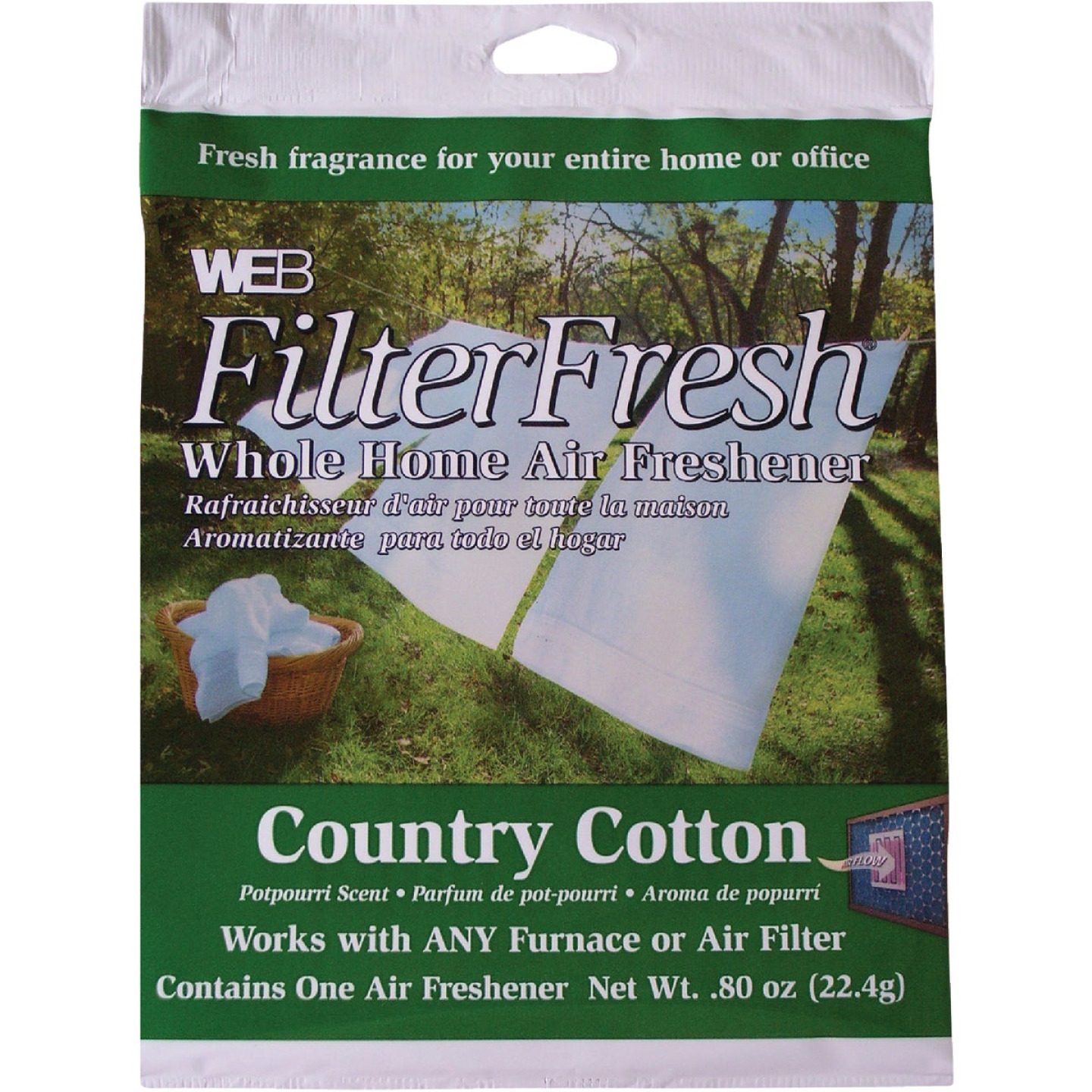 Web FilterFresh Furnace Air Freshener, Country Cotton Image 1