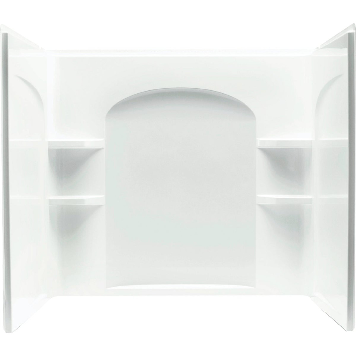 Sterling Ensemble 7122 Series 3-Piece 60 In. W x 33-1/4 In. D x 55-1/4 In. H Tub Wall Kit in White Image 2