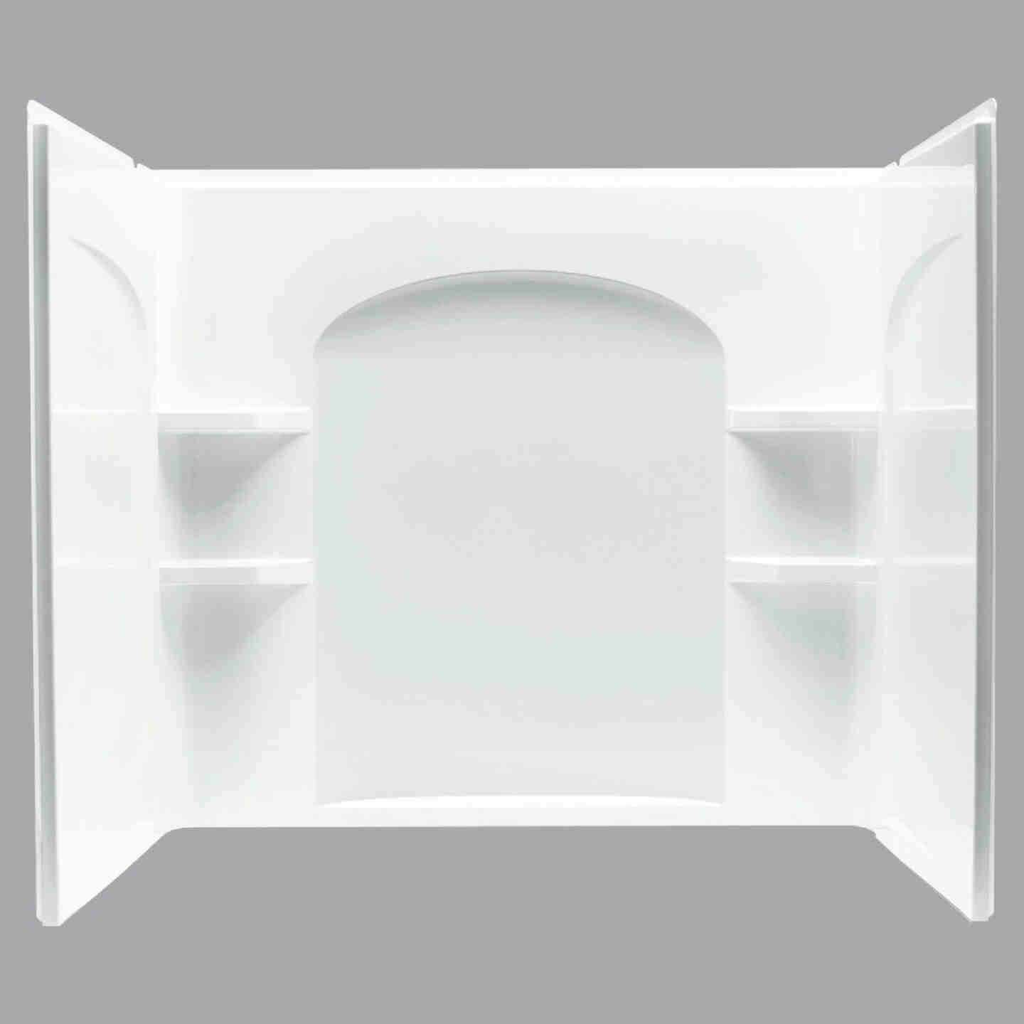 Sterling Ensemble 7122 Series 3-Piece 60 In. W x 33-1/4 In. D x 55-1/4 In. H Tub Wall Kit in White Image 1