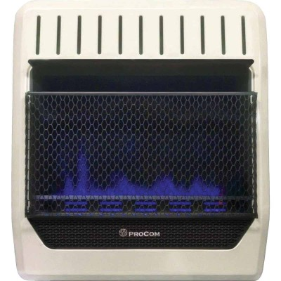 ProCom 20,000 BTU Natural Gas or Propane Gas Vent-Free Blue Flame Wall Heater