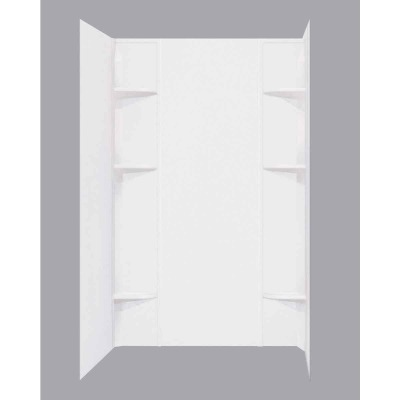 Mustee Durawall Model 260 5-Piece 60 In. W x 40 In. D Shower Wall Set in White