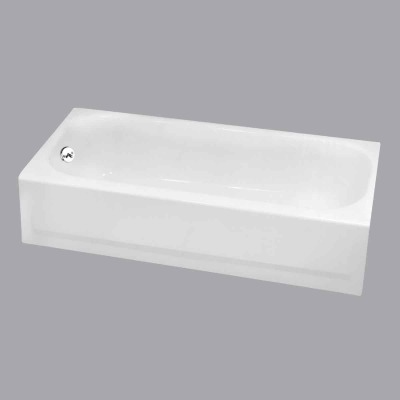 Briggs Pendant V 60 In. L x 30 In. W x 14-1/4 In. D Left Drain Bathtub in Bone