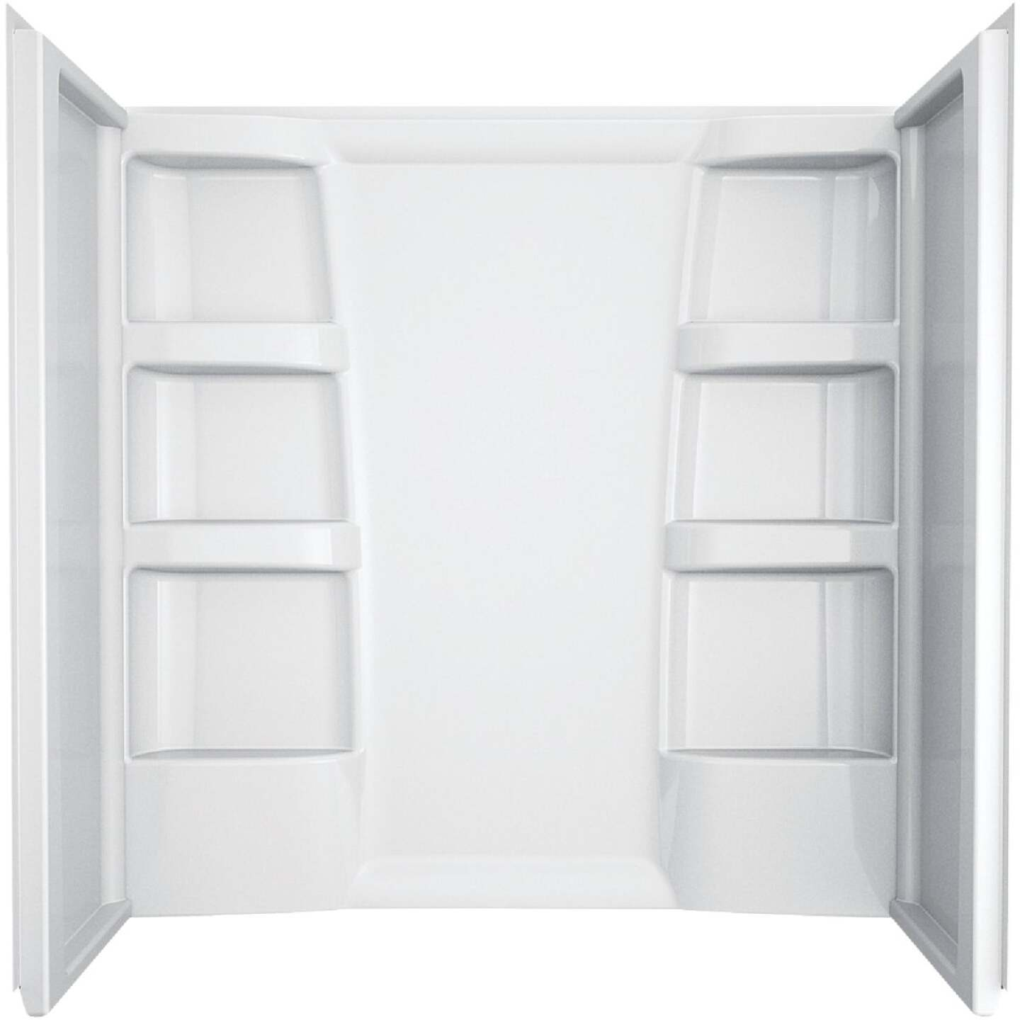 Delta Hycroft 3-Piece 60 In. L x 30 In. D (Bathtub) Tub Wall Kit in White Image 1