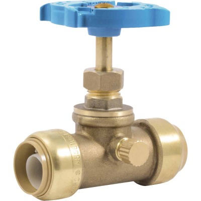 Sharkbite 3/4 In. SB x 3/4 In. SB Brass Push-to-Connect Gate Valve