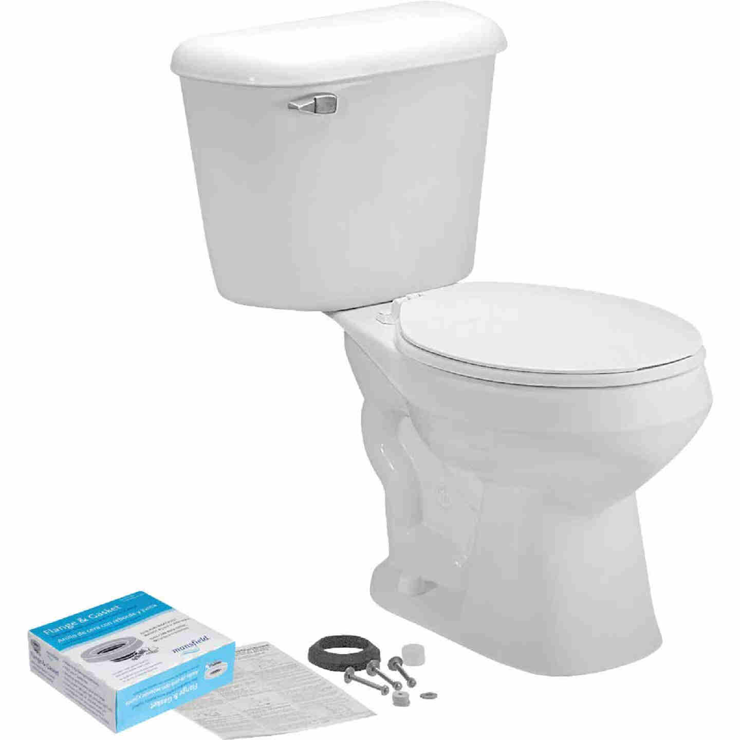 Mansfield Pro-Fit 1 White Round Bowl 1.6 GPF Complete Toilet Image 3