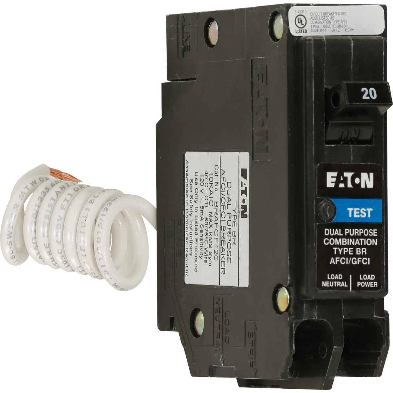 Eaton BR 20A Single-Pole Short Body AFCI/GFCI Breaker Image 1