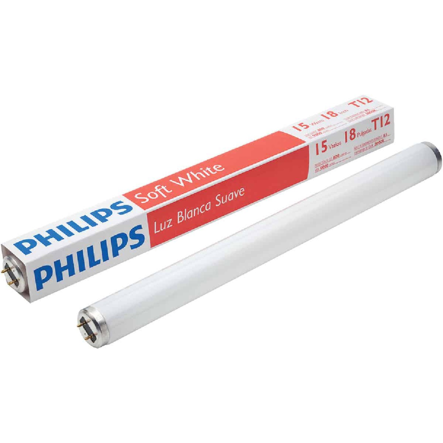 Philips ALTO 15W 18 In. Soft White T12 Medium Bi-Pin Fluorescent Tube Light Bulb Image 1