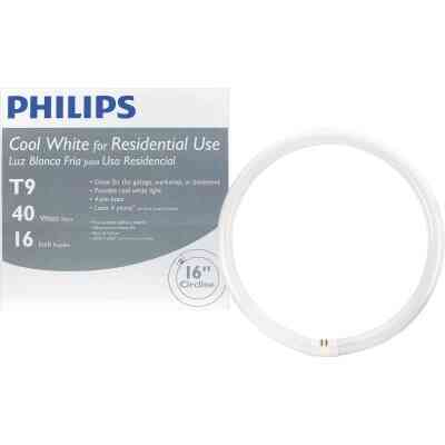 Philips 40W 16 In. Cool White T9 4-Pin Circline Fluorescent Tube Light Bulb