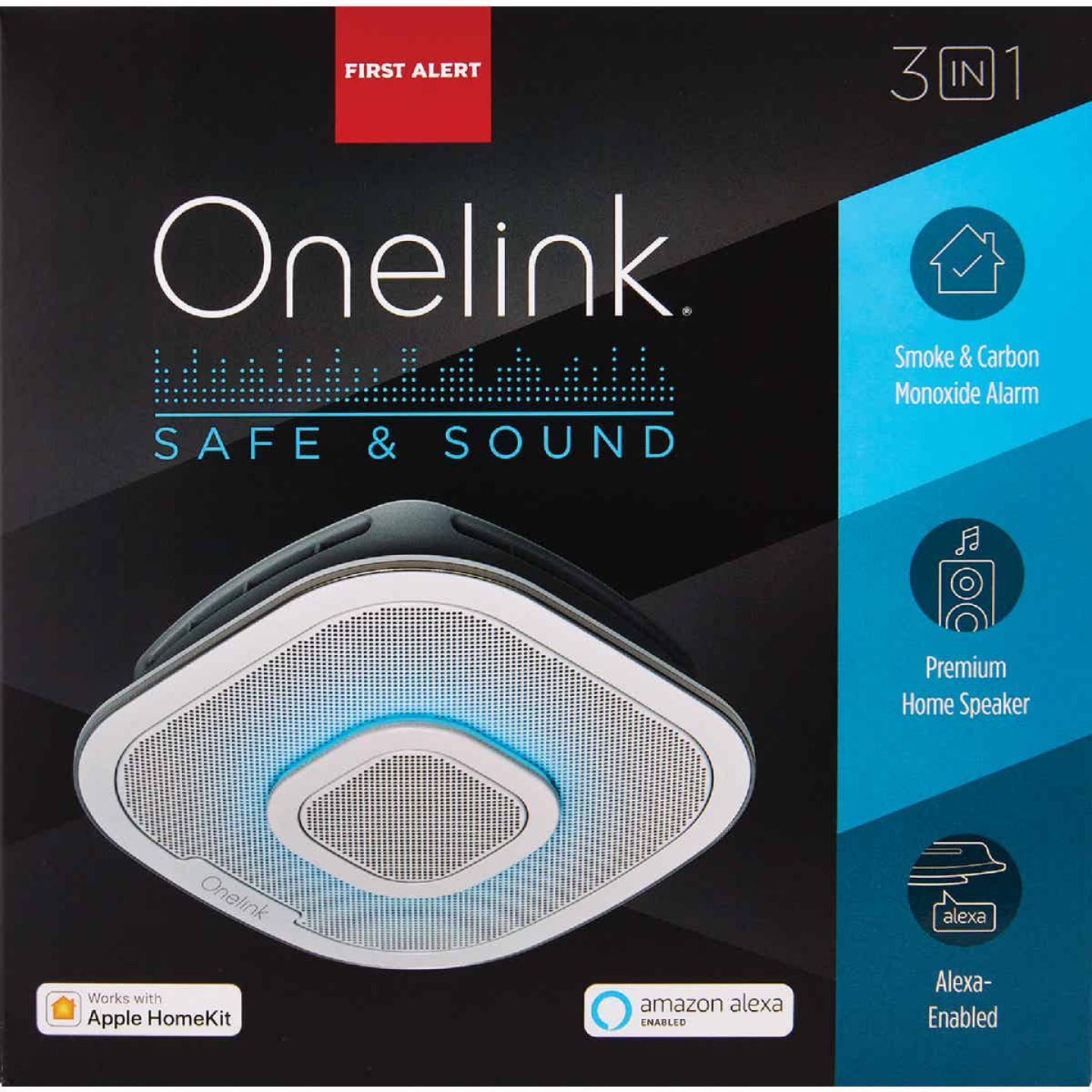 First Alert Onelink Safe & Sound 120V Photoelectric/Electrochemical Smart Carbon Monoxide and Smoke Alarm with Alexa Image 2