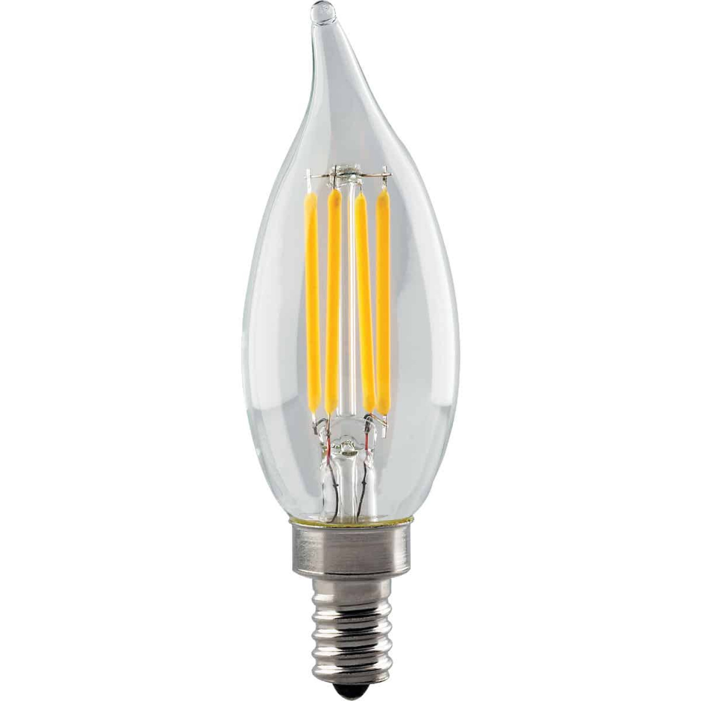 Satco 40W Equivalent Warm White CA11 Candelabra LED Decorative Light Bulb Image 1