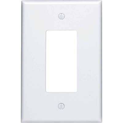 Leviton Decora 1-Gang Plastic Oversized Rocker Decorator Wall Plate, White