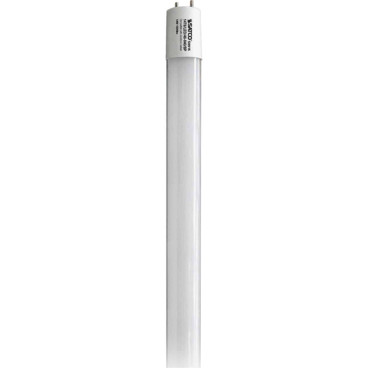 Satco 32W Equivalent 48 In. Cool White T8 Medium Bi-Pin Ballast Bypass DLC Certified LED Tube Light Bulb Image 1