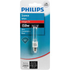 Philips 150W 120V Clear Mini-Can Base T4 Halogen Special Purpose Light Bulb Image 2