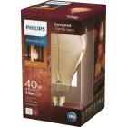 Philips 40W Equivalent Amber A50 Medium LED Decorative Light Bulb Image 1